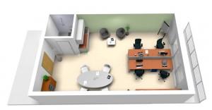 Visualisierung_Möbliertes-Büro-Oben-Businesscenter-Liestal