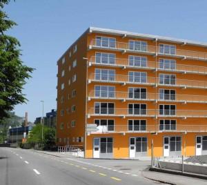 Businesscenter Liestal - Aussenansicht von der Kreuzung Oristalstrasse / Spinnlerstrasse